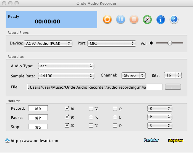Ondesoft Audio Recorder for Mac Screenshot