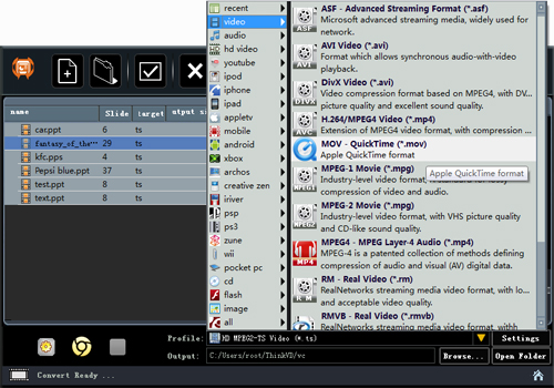 ThinkVD PowerPoint to Video Converter Screenshot