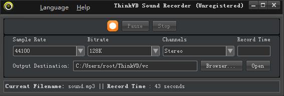ThinkVD Sound Recorder Screenshot