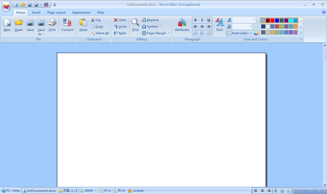 Word Editor Screenshot