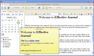 Effective Journal Screenshot