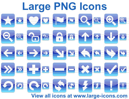 Large PNG Icons Screenshot