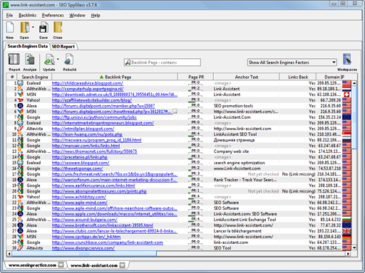 SEO PowerSuite Spanish Edition Screenshot