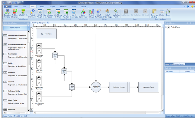 SLPSoft Interactive Project Modeling Screenshot