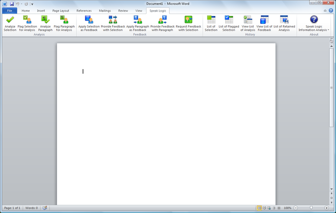 Speak Logic Information Analysis for MS Office Screenshot 1