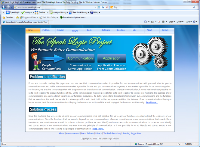 Speak Logic Information Analysis for Internet Explorer Screenshot 1