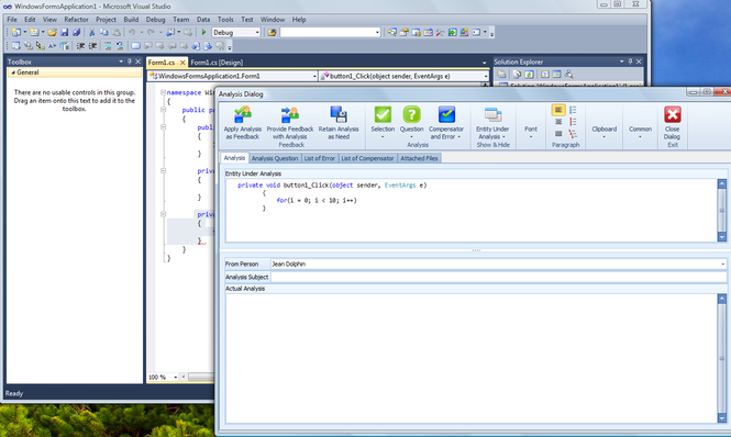 Speak Logic Information Analysis for Visual Studio Screenshot 1