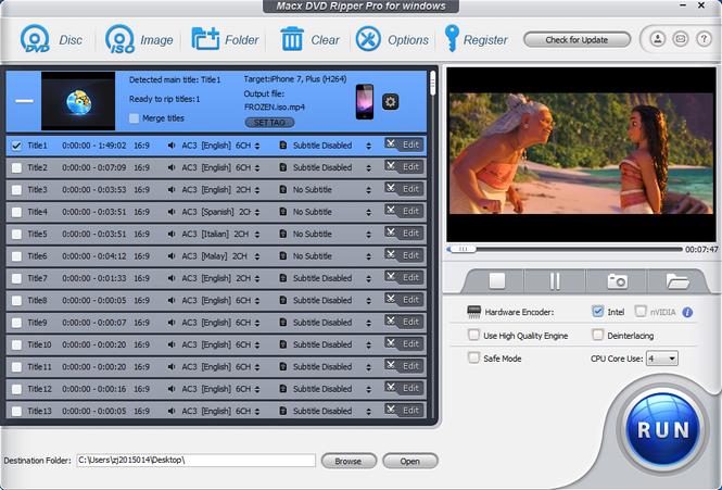 MacX DVD Ripper Pro for Windows Screenshot