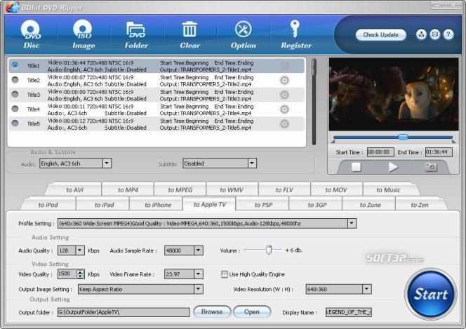 BDlot DVD Ripper Screenshot 2