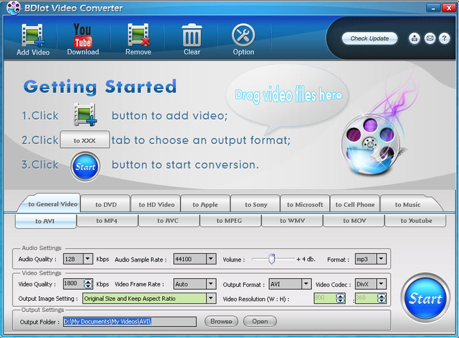 BDlot Video Converter Screenshot