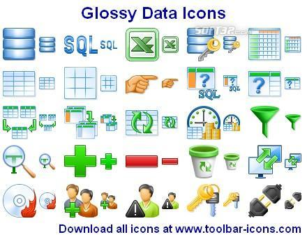 Glossy Data Icons Screenshot 2