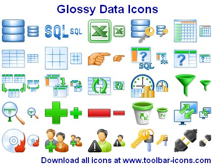 Glossy Data Icons Screenshot 1