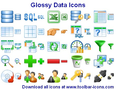 Glossy Data Icons 1