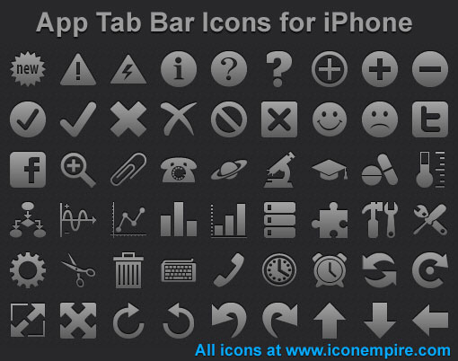 App Tab Bar Icons for iPhone Screenshot 1