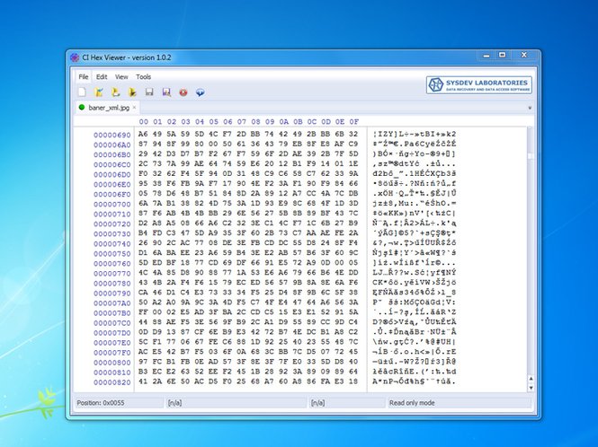 CI Hex Viewer (Windows) Screenshot 1