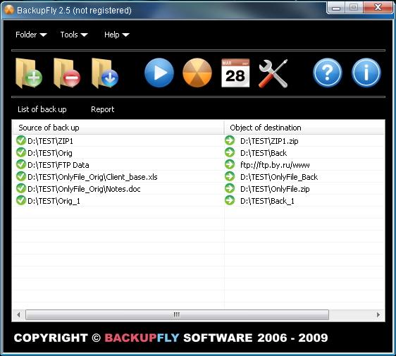 BackupFly Screenshot 1