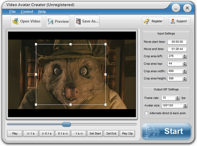 Eviosoft Video Avatar Creator Screenshot