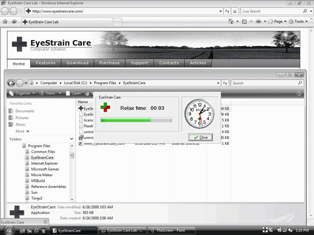 EyeStrainCare Screenshot