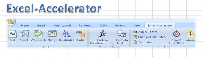 Excel-Accelerator Screenshot