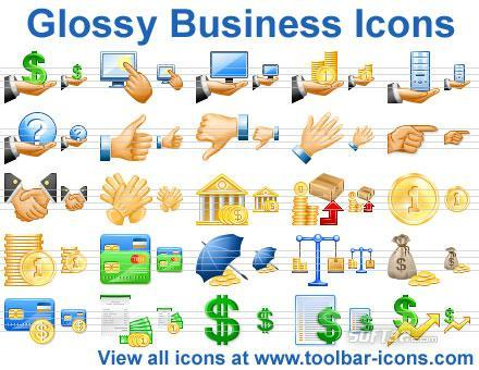 Glossy Business Icons Screenshot 2