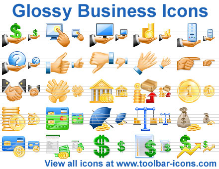 Glossy Business Icons Screenshot 1