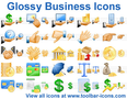 Glossy Business Icons 1