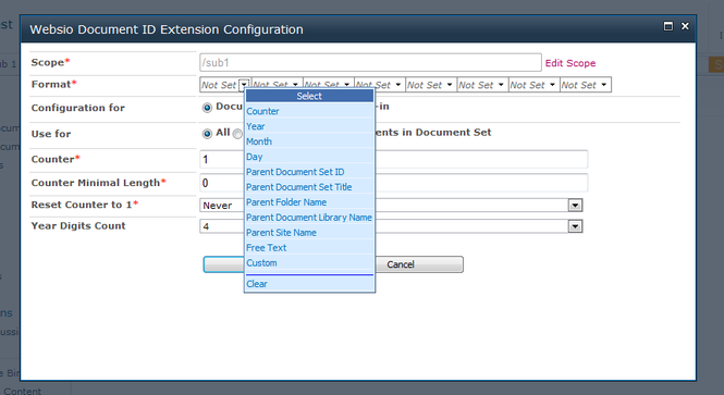 SharePoint Document ID Extension Screenshot 1