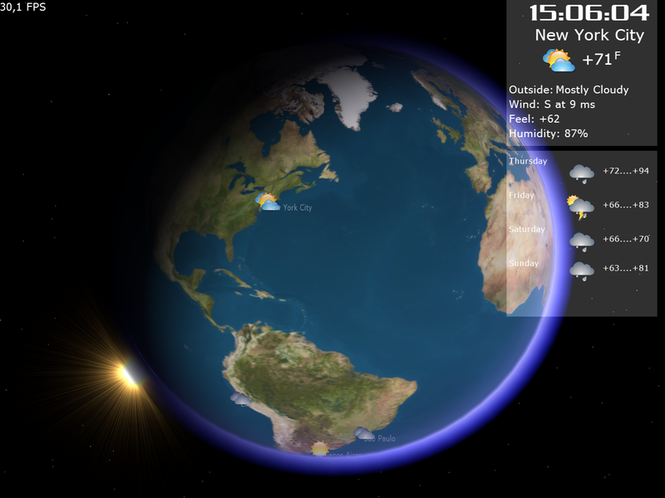 Weather on Earth 3D Screenshot