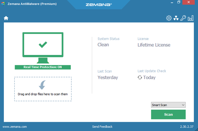 Zemana AntiMalware Screenshot 1