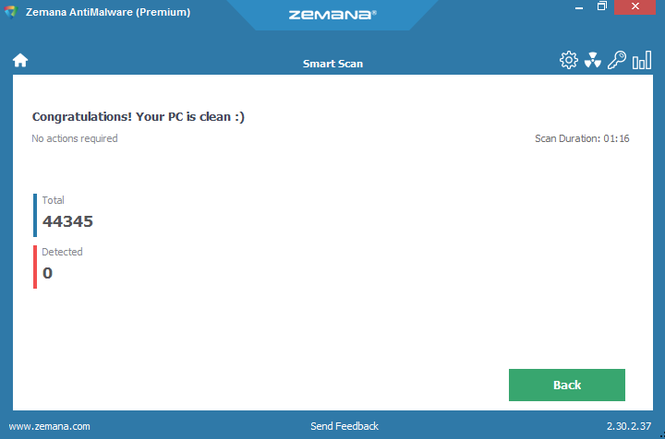 Zemana AntiMalware Screenshot 3