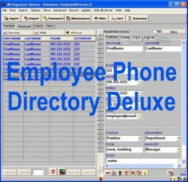 Employee Phone Directory Deluxe Screenshot 2