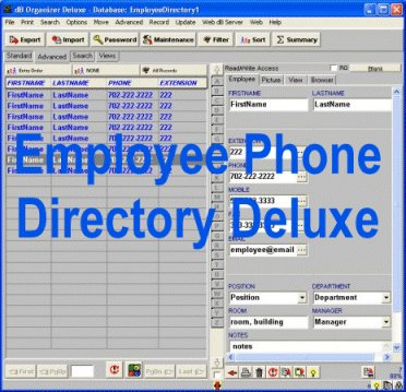 Employee Phone Directory Deluxe Screenshot 1