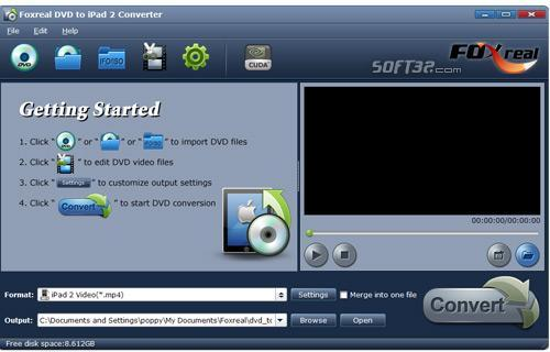 Foxreal DVD to iPad 2 Converter Screenshot 2