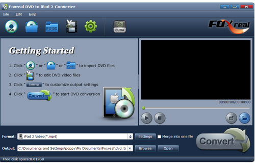 Foxreal DVD to iPad 2 Converter Screenshot