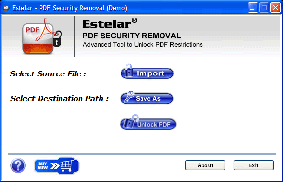 PDF Security Remover Screenshot