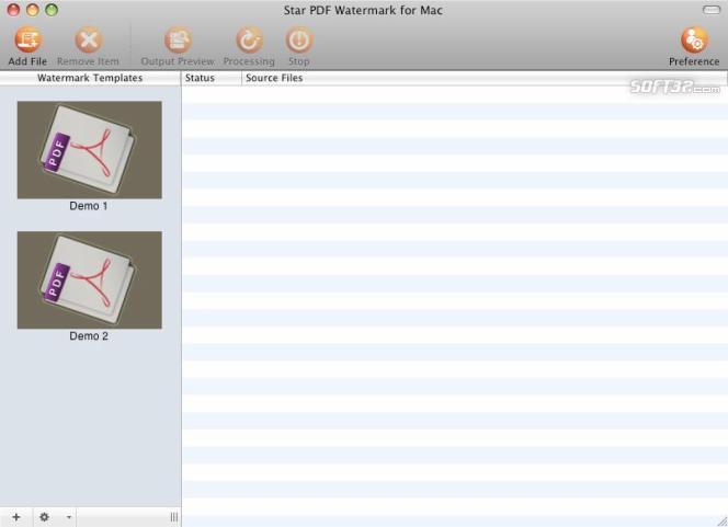Star PDF Watermark for Mac Screenshot 2