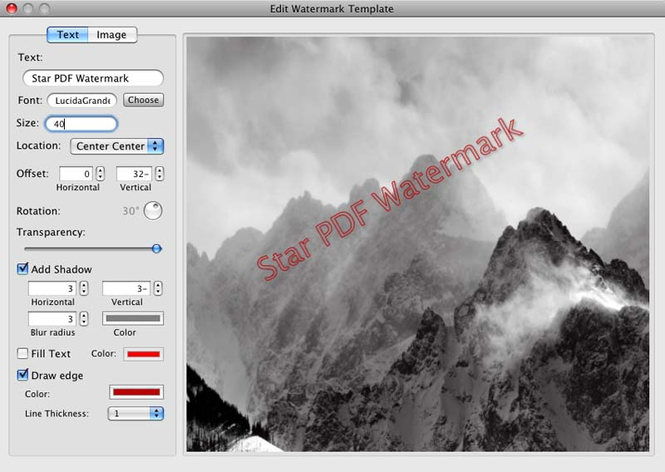 Star PDF Watermark for Mac Screenshot 1