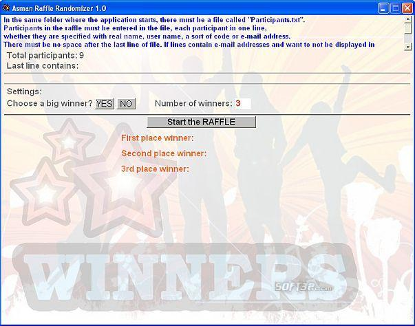 Asman Raffle Randomizer Screenshot 1