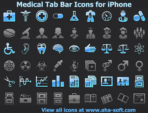 Medical Tab Bar Icons for iPhone Screenshot 1