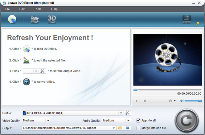 Leawo DVD to MOV Converter Screenshot