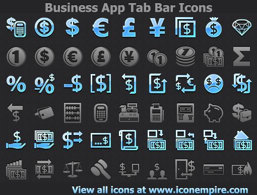 Business App Tab Bar Icons Screenshot