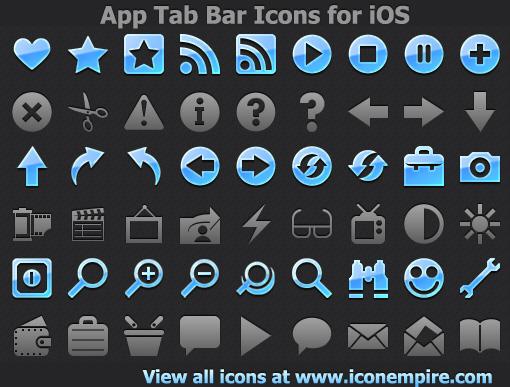 App Tab Bar Icons for iOS Screenshot