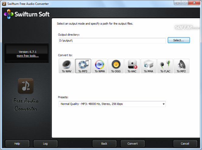 Swifturn Free Audio Converter Screenshot