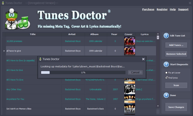 TunesDoctor Screenshot