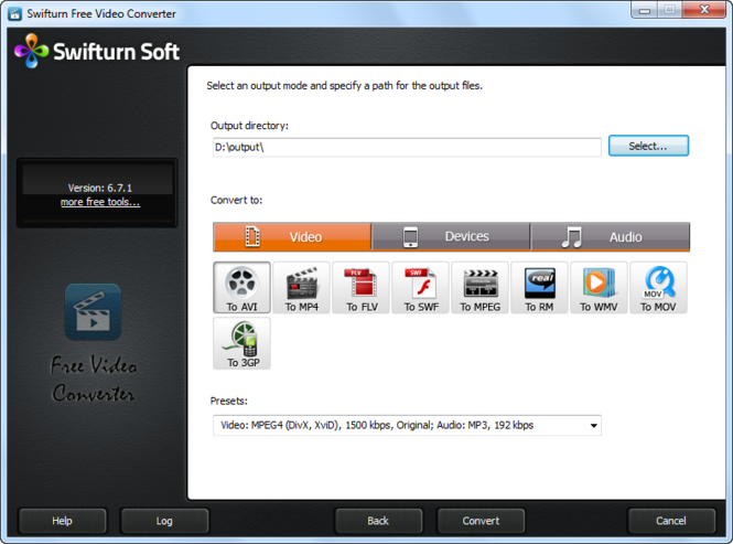 Swifturn Free Video Converter Screenshot 1