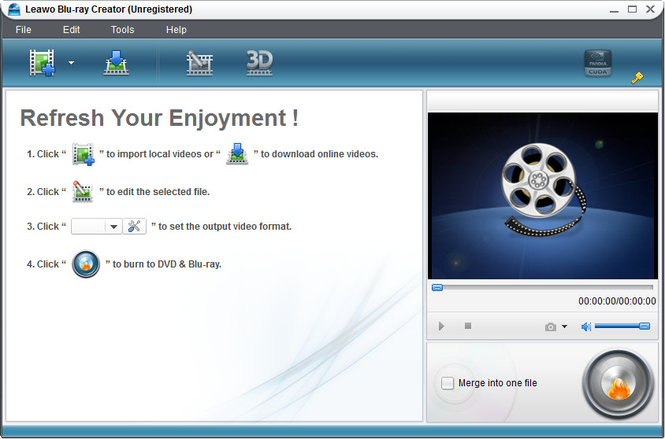 Leawo Blu-ray Creator Screenshot