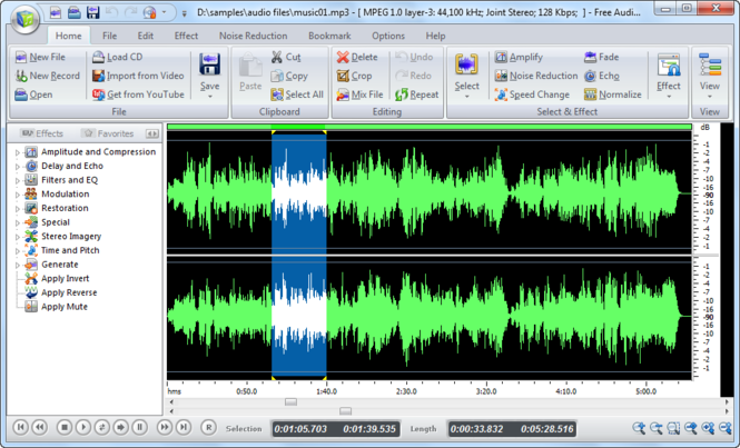 Swifturn Free Audio Editor Screenshot 1