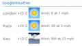 GoogleWeather Sharepoint Web Part 1