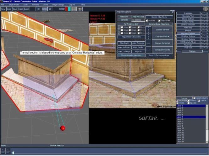 Gimpel3D 2D/3D Stereo Conversion Editor Screenshot 2