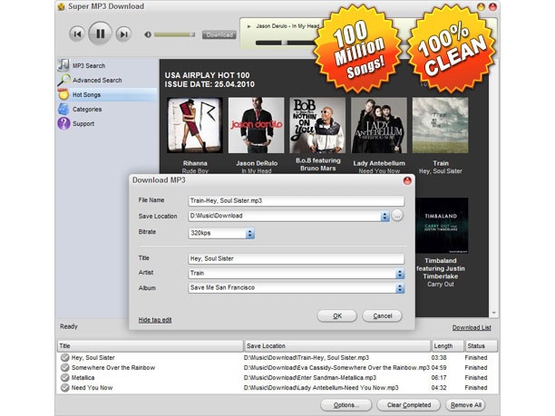 Super MP3 Download for Mac Screenshot 1